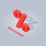 Bonuses for Online Purchases Isolated Illustration royalty free illustration