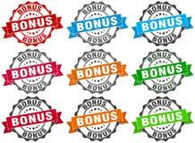 Bonuszegel teken verbinding Stock Afbeelding