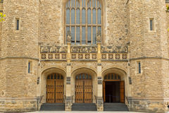 Bonython Hall of the University of Adelaide, partial view, in Ad. ADELAIDE, AUSTRALIA - APRIL, 2016 : The entrance of Bonython Hall of the University of Adelaide Royalty Free Stock Photo