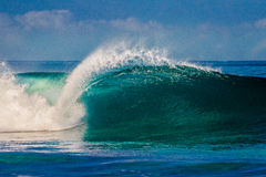 Bonzai Pipeline on Oahu's North Shore in Hawaii Stock Photography
