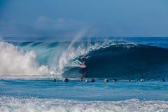 Bonzai-Rohrleitung auf Oahus Nordufer in Hawaii lizenzfreie stockfotografie