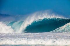 Bonzaipijpleiding op het Noordenkust van Oahu in Hawaï Stock Foto's