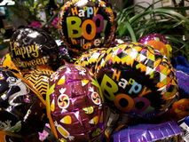 Boo Ballon bukett Arkivbild