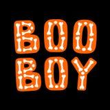 Boo Boy Lettrage de Halloween illustration stock