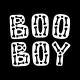 Boo Boy Lettrage de Halloween illustration libre de droits