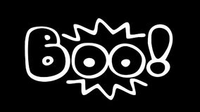 Boo - fun unexpected text animation stock footage