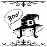 Boo! Halloween card Stock Photo