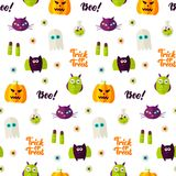 Boo Halloween Seamless Pattern Image stock