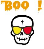 Boo Haloween. Halloween skull and boo Royalty Free Stock Photography
