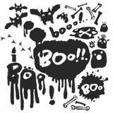 Boo Ink Doodle Set Lizenzfreie Stockfotos