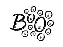 boo Lettrage tiré par la main pour Halloween illustration libre de droits