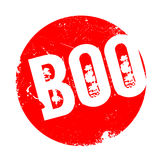 Boo rubber stamp Stock Photo