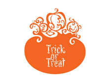Boo Trick Or Treat card design Royalty Free Stock Photos