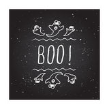 Boo - typographic element Royalty Free Stock Photography