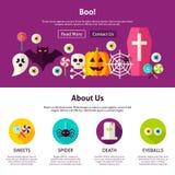 Boo Web Design Template illustration stock