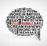 Booble Wortwolke der Sprache. Stockbild