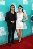 Booboo Stewart und Fivel Stewart, der zu den MTV-Film-Preisen 2012 kommt Lizenzfreies Stockbild