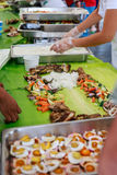 Boodle Fight, Philippine Culture Stock Images