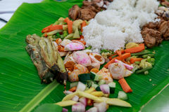 Boodle Fight, Philippine Culture Royalty Free Stock Photography