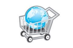 boodschappenwagentje pictogram Stock Fotografie