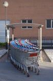 Boodschappenwagentjes Stock Afbeelding