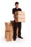 Boodschapper en pakketten stock foto's