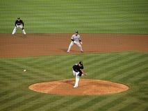 Boof Bonser projette un fastball dans un tour de batte tardif Photos stock