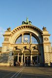 Boog bij station in Luzern Stock Afbeelding