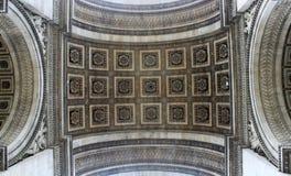 Boog DE triomphe Parijs Royalty-vrije Stock Afbeeldingen