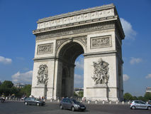 Boog DE triomphe, Parijs Royalty-vrije Stock Fotografie
