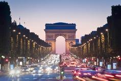 Boog DE triomphe, Parijs Royalty-vrije Stock Foto