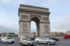 Boog DE triomphe, Parijs Royalty-vrije Stock Foto's
