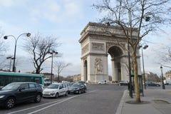 Boog DE triomphe, Parijs Stock Afbeeldingen