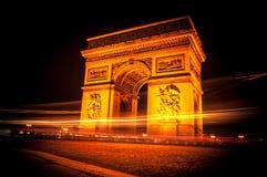 Boog DE triomphe, Parijs Stock Foto