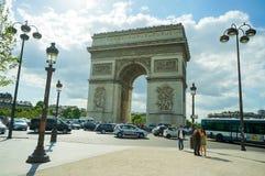 Boog DE triomphe, Parijs stock fotografie
