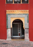 Boog in Grote Moskee, Cordoba Royalty-vrije Stock Fotografie