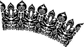 Boog met abstract ornament royalty-vrije illustratie