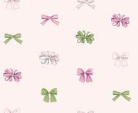 Boog naadloos patroon Meisjesachtige manier witte achtergrond vakantie stock illustratie