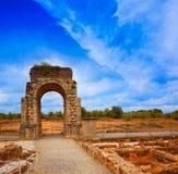 Boog Romein van Caparra in Spanje Extremadura royalty-vrije stock foto's