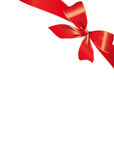 Boog, rood, achtergrond, Kerstmis Royalty-vrije Stock Foto's