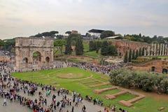 Boog van Constantine, Rome Stock Foto's