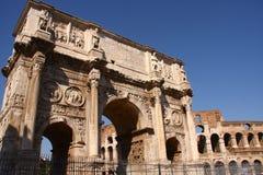 Boog van Constantine, Rome Royalty-vrije Stock Foto's