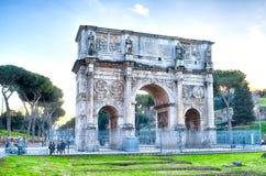 Boog van Constantine, Rome Stock Foto