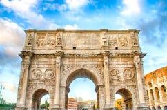 Boog van Constantine, Rome Stock Afbeeldingen