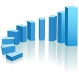 Boog van de de grafiek de stijgende vooruitgang van de groei Royalty-vrije Stock Foto's