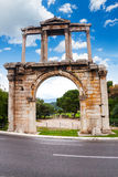 Boog van Hadrian in Athene, Griekenland Royalty-vrije Stock Afbeelding