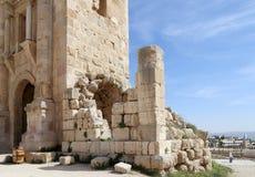 Boog van Hadrian in Gerasa (Jerash), Jordanië Royalty-vrije Stock Fotografie