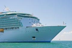 Boog van het Schip van de Cruise op zee Royalty-vrije Stock Afbeelding