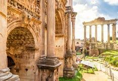 Boog van Keizer Septimius Severus n Rome stock afbeeldingen