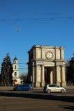 Boog van Overwinning, 13 December, 2014, Chisinau, Moldavië Royalty-vrije Stock Fotografie